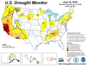 Drought Monitor - June 14, 2016