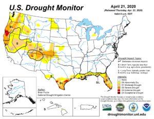 U.S. Drought Monitor - 4/21/2020